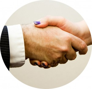 Handshake support from business