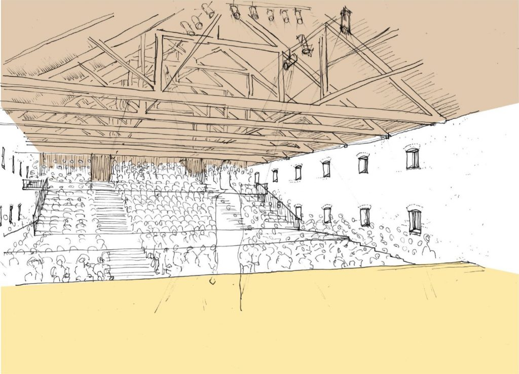 Sketch view of the main auditorium