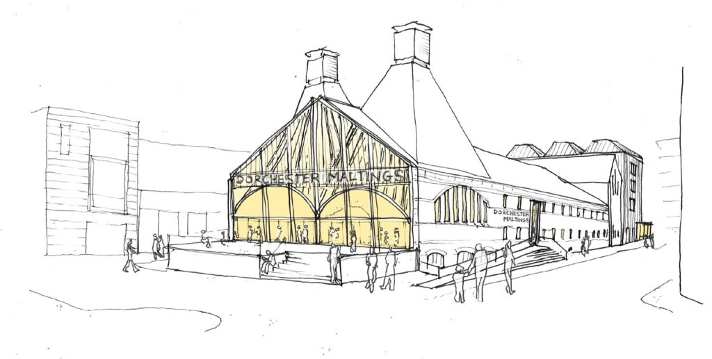 Sketch view of the exterior