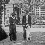 Thomas and Florence Hardy with Wessex at Max Gate, Courtesy of the Dorset County Museum
