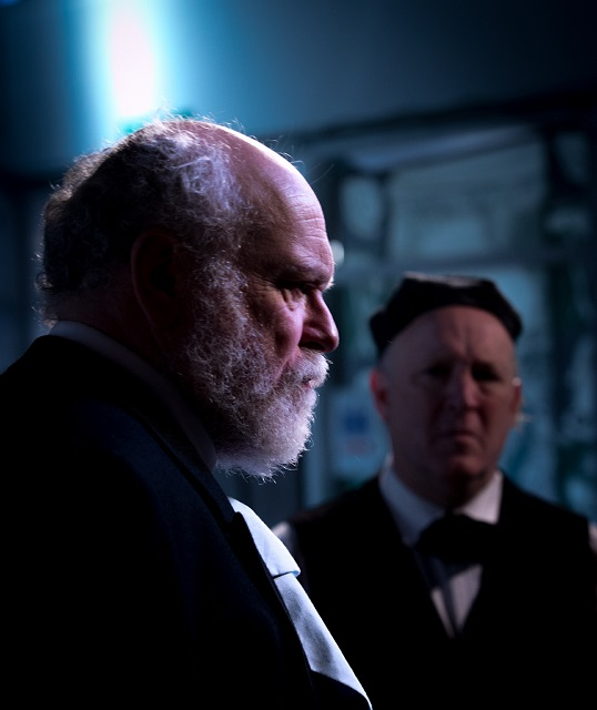 (left) Neil Salvage as Johannes Brahms (right) Nicholas Collett as Heinrich von Herzogenberg (photo by Peter Mould) LR